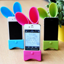 Custom horn-shape silicone speaker amplifier, silicone mobile phone speaker box