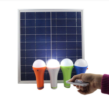 portable and rechargeable solar home light with 10W solar panel and 4 pcs led light