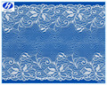2016 Hongtai 19cm low price wide spandex nylon peony pattern thick eyelet cotton lace trim for dress