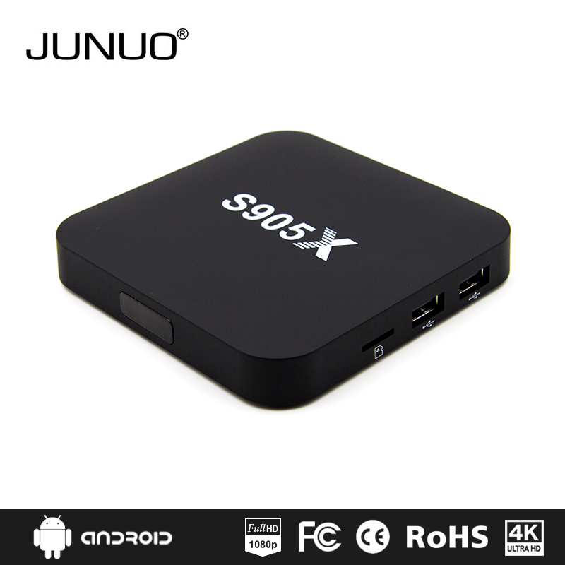 Junuo 2016 internet tv set top box amlogic s905x android tv box with linux system