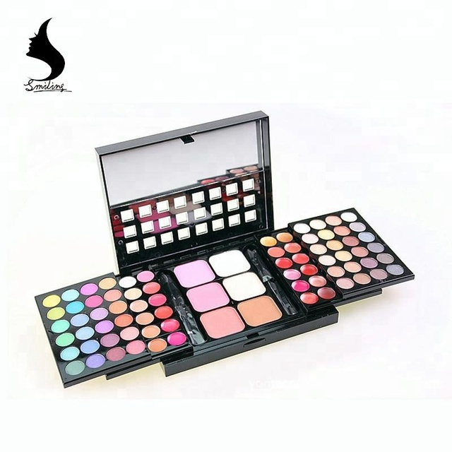 Cheap Price No Logo 74 Color Cosmetics Set Eyeshadow Palette Waterproof Lip Gloss Longlasting Foundation Blush Big Makeup Kit