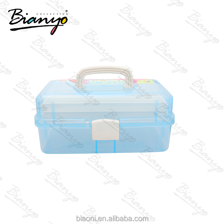 Multifunction box transparent three layers tool box Storage kit Plastic Tool Box
