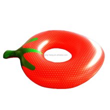 inflatable strawberry pool floats PVC fruit shape donut swimming ring