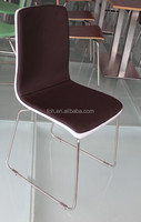 Chocolate soft leather pad bistro cafe restaurant vinyl top chair (FOH-XM53-495)