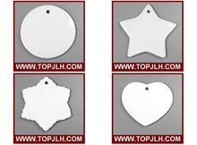 Topjlh wholesale Personalized Blank Christmas Ornaments