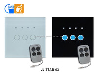 EU standard remote control touch switch with timer function JJ-TSAB-03