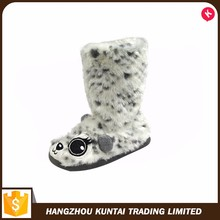 Cheap promotional comfortable indoor winter animal shaped slipper shoes