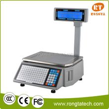 Electronic weighing scale with computer interface for label printing RLS1000