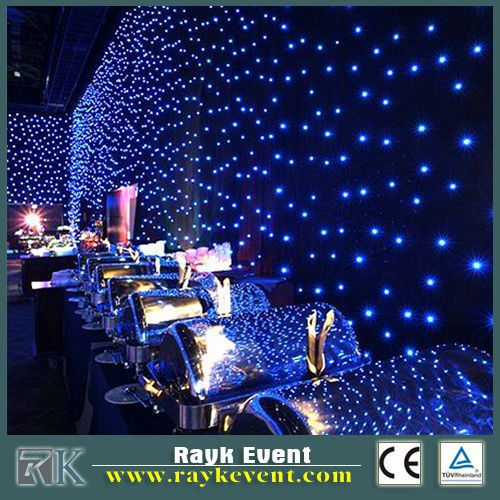 led star curtain 6x3m rgb,decoration light curtainblack drop for stage,wedding,night club,etc