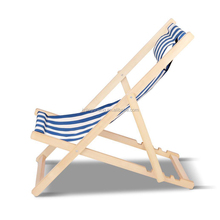 Outdoor Folding Wood Beach Patio Pool Chair foldable Sling Deck Chair
