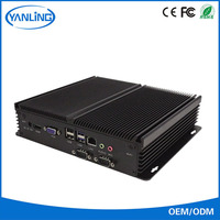 china best-selling 1.8ghz processor 2 rs232 coms port 12 volt fanless industrial aluminium chassis computer