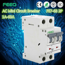 Free Sample IEC60947 FE7-63 4 pole wiring mcb 230v mcb circuit breaker red copper mcb with CE