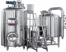 stainless steel brew kettle mash tun for beer making machine