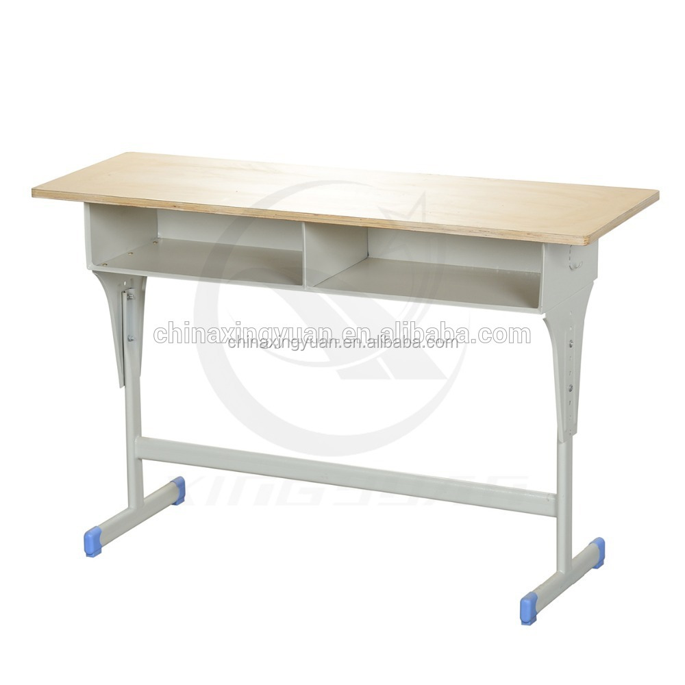 Modern metal school sets furniture reading room table chair