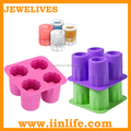 4 cavity silicone cool shooters ice shot glass maker