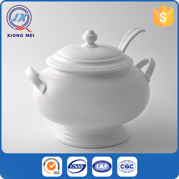High quality multi-purpose heat resistant cheap porcelain soup tureen set