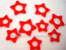 Kaos Softwear Red Star O - rings body piercing jewelry accessory