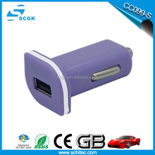 5V2A high quality and rohs solar cell phone charger promotional usb car phone charger factory