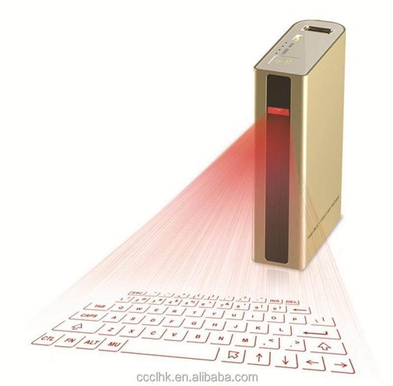 5in1 Bluetooth Laser Virtual Projector Keyboard with Power Bank 5200mAh