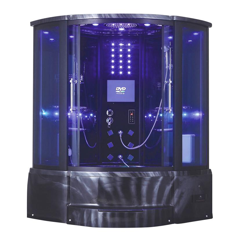 Spa Shower Bath Cabin,Steam Shower And Whirlpool Bath,Black Steam ...