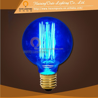 Blue lighting vintage globe edison light bulbs g95 40w