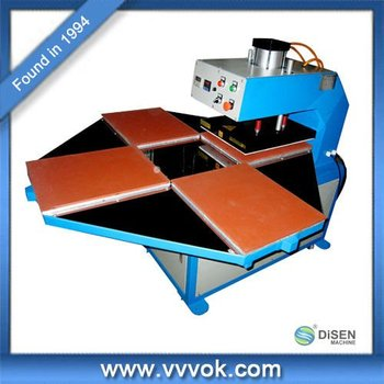 Four stations 3d sublimation heat press machine