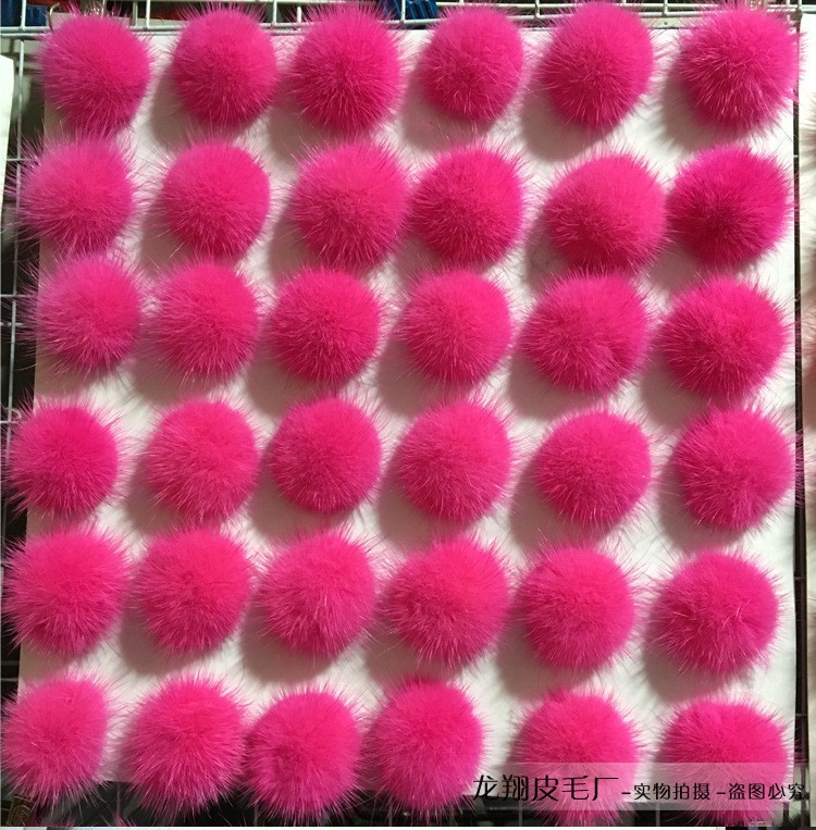 Otter rabbit hair bulb 5.6.7.8 cm rabbit fur ball ornaments phone DIY shoes handbags garment accessories