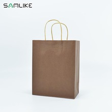 Custom carrier kraft paper bag with various sizes