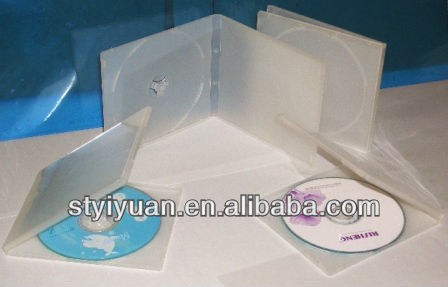 10.4mm small plastic pp vcd case/10.4mm double cd case clear
