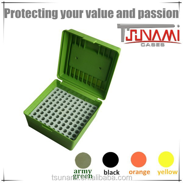 New portable plastic ammunition box bulk ammo 100 round ammo can for ammo reloading equipment (TB-904)