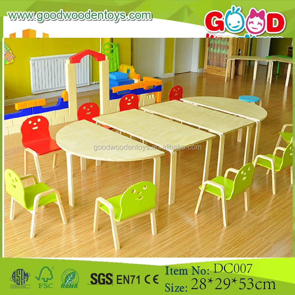 Wholesale School Supply Kindergarten Wooden Furniture Set in 2017