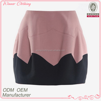 Autumn fashion style sexy women's flower shaped micro mini skirt