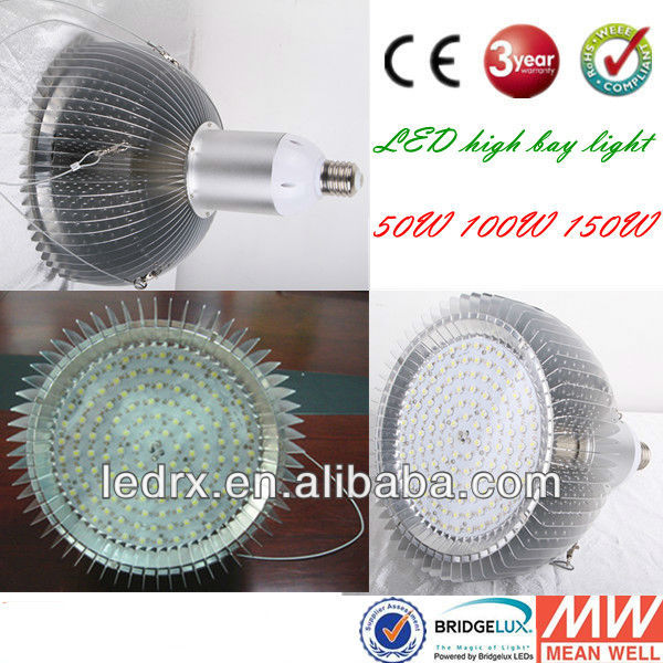 high lumen led high bay warehouse light 150W E40 500W halogen high pressure sodium light replacement CE ROHS UL IES file