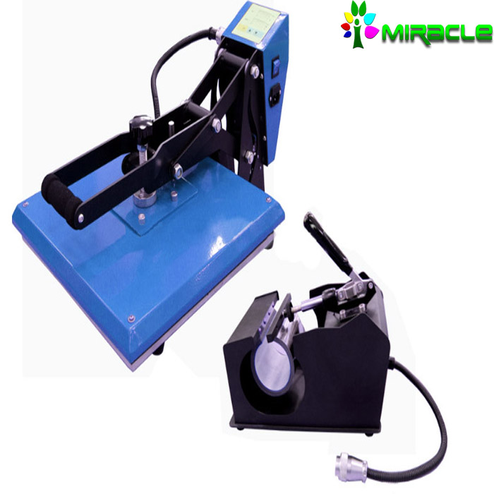 Heat Press Machine for DYE Sublimation T-shirt / Mugs Printing Machine 2 in 1