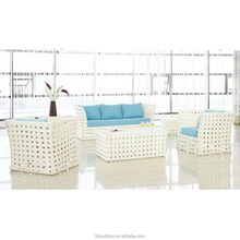White plastic furniture outdoor/wicker furniture/rattan outdoor furniture