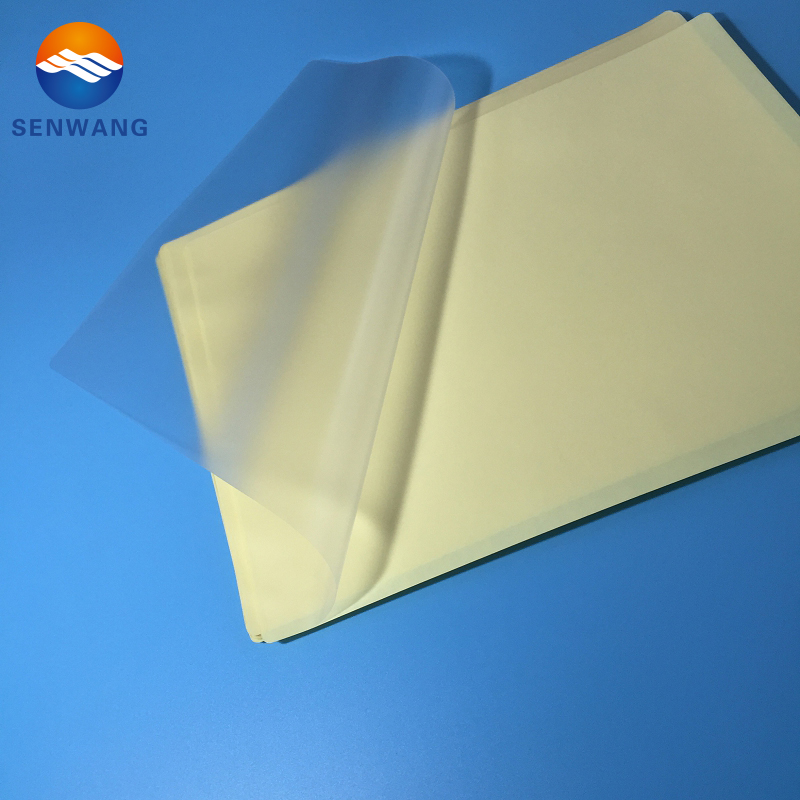High-End Sticky Back Laminating Pouches Large Laminating Services Film