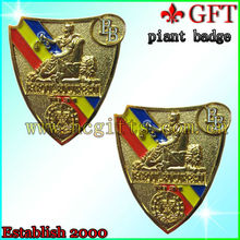 custom design gold metal car grill badges