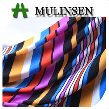 Mulinsen Textile High Quality Knitted FDY Polyester Spandex Rainbow Stripe Fabric