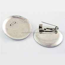 Small Quantity Brooch Pad Findings 30mm Metal Badge Blank Bases(X-E069Y)
