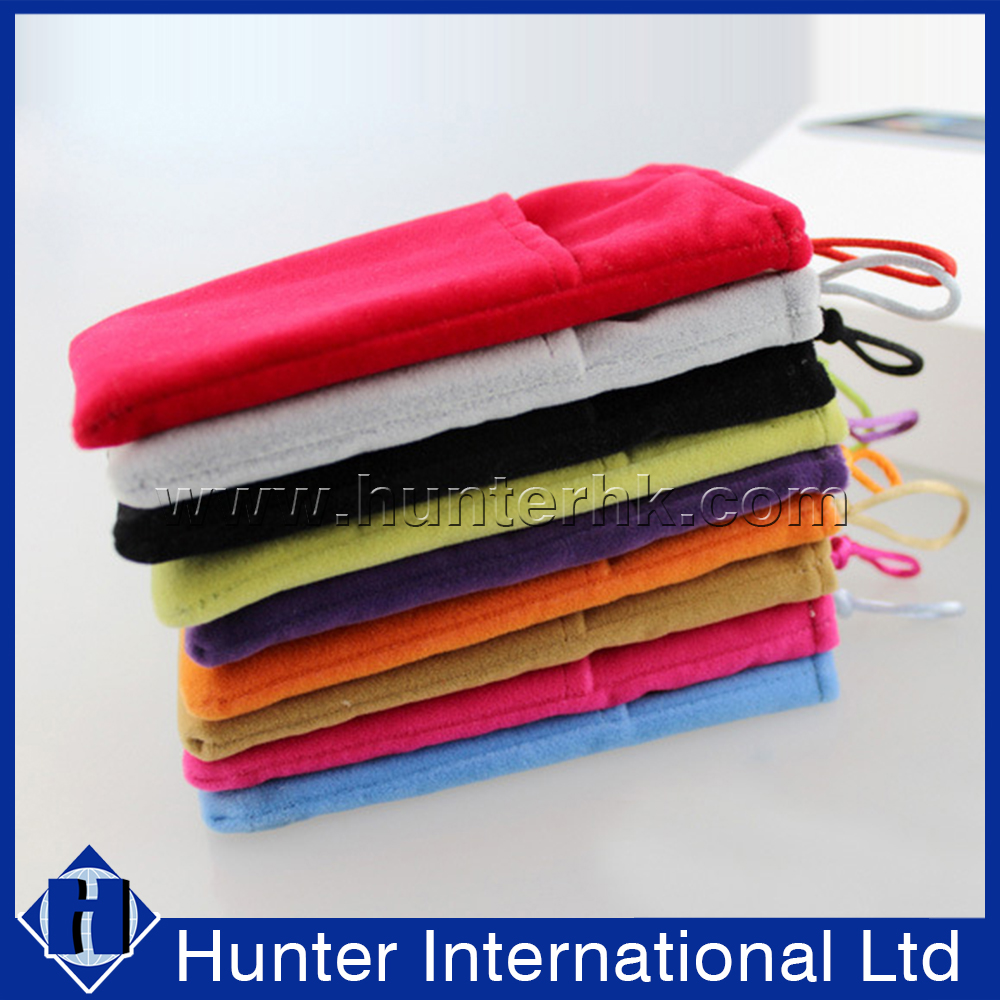Colourful Bistratal Fabric Cloth Mobile Phone Sock