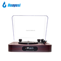 portable 3 speed usb recording fm radio vinyl record turntable with bluetooth