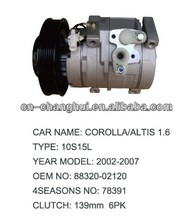 High quality A/C Compressor For TOYOTA COROLLA / ALTIS 1.6 10S15L 8832002120