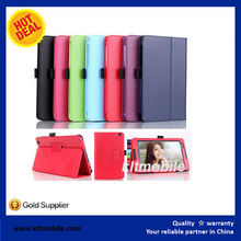 Universal tablet case,PU Leather Contrast Flip Case Cover,leather support stand Case Protector