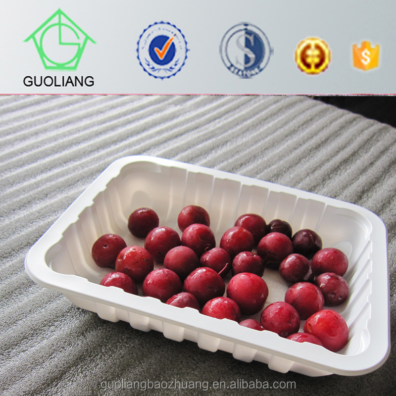 Environmentally Friendly Packaging Plastic Fruit And Vegeteable Trays Boxes