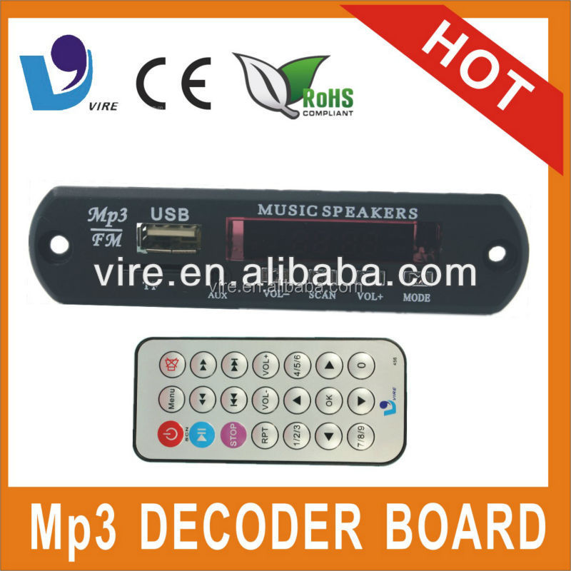 digital mp3 player decoder module with usb sd fm