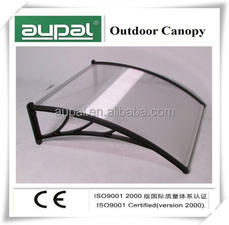 Shelter Logic outdoor DYO door, window awning polycarbonate cover for rain