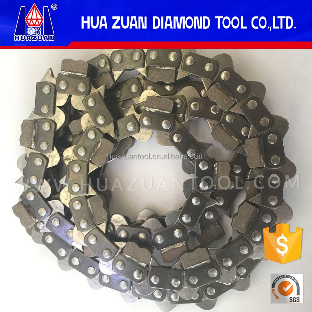 "Chinese gasoline chainsaw parts 3/8"" pitch diamond chain saw for concrete brick wall cutting"