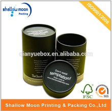 customized cylinder cardboard packaging box olive oil box