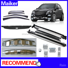 4x4 Accessorie Auto parts for Benz ML 350 W164 from maiker accessories Running board Side Step rain visor bumper plate