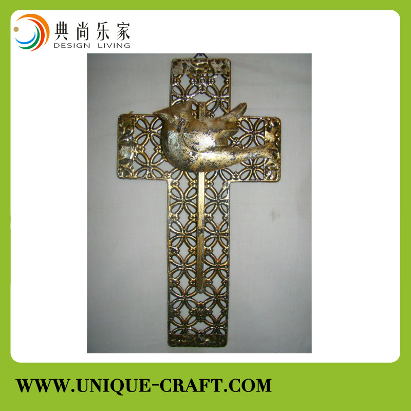 Antique cross with animals and flowers for Christmas decorations